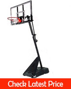 Spalding Pro Slam Portable NBA 54″ Angled Pole Backboard Basketball System