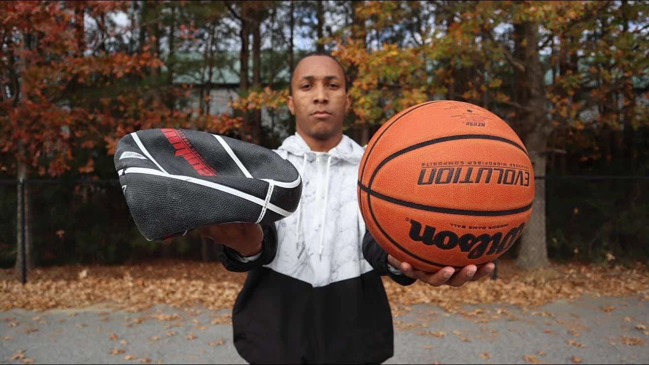 Deflate a basketball